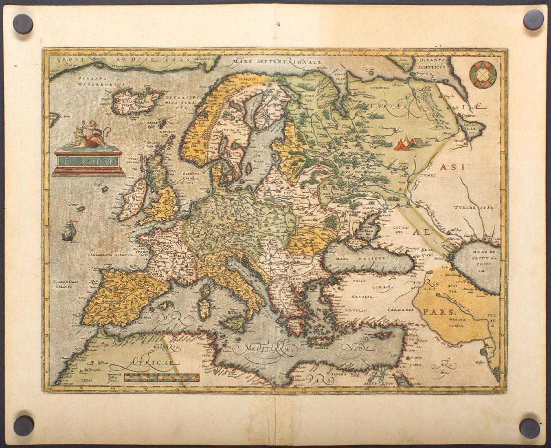 Ortelius: Map of Europe, 1584