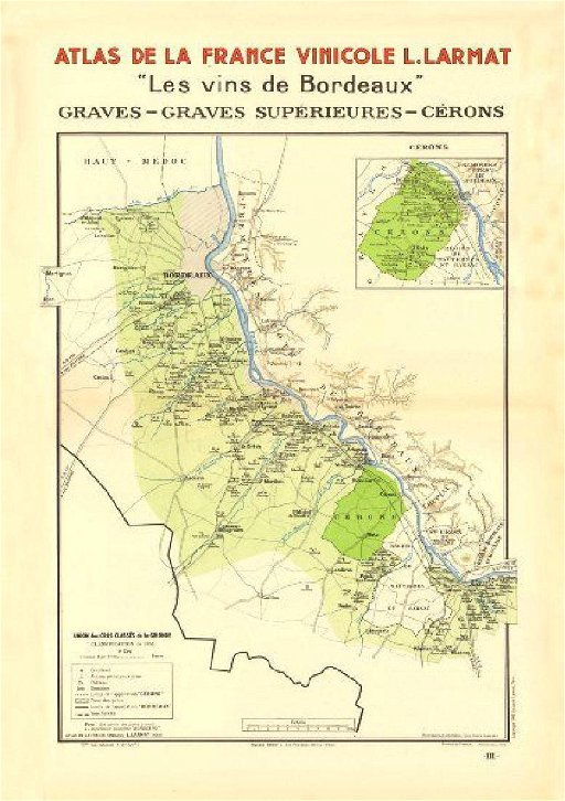Map Of France Bordeaux.Larmat Bordeaux Vins Wine Map 1944 Jul 01 2017 Jasper52 In Ny
