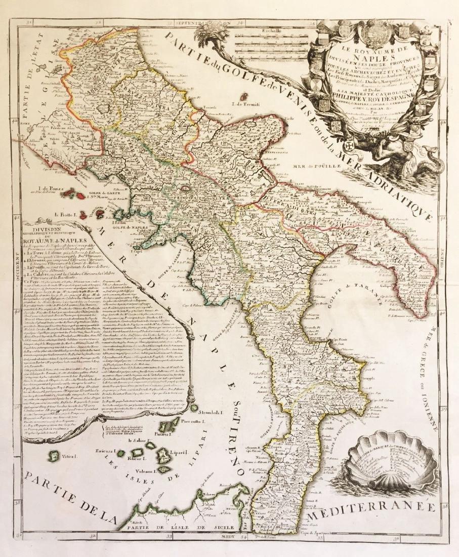 Nolin: Le Royaume de Naples, 1742