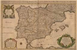 SansonJaillot Map of Spain Iberia 1692