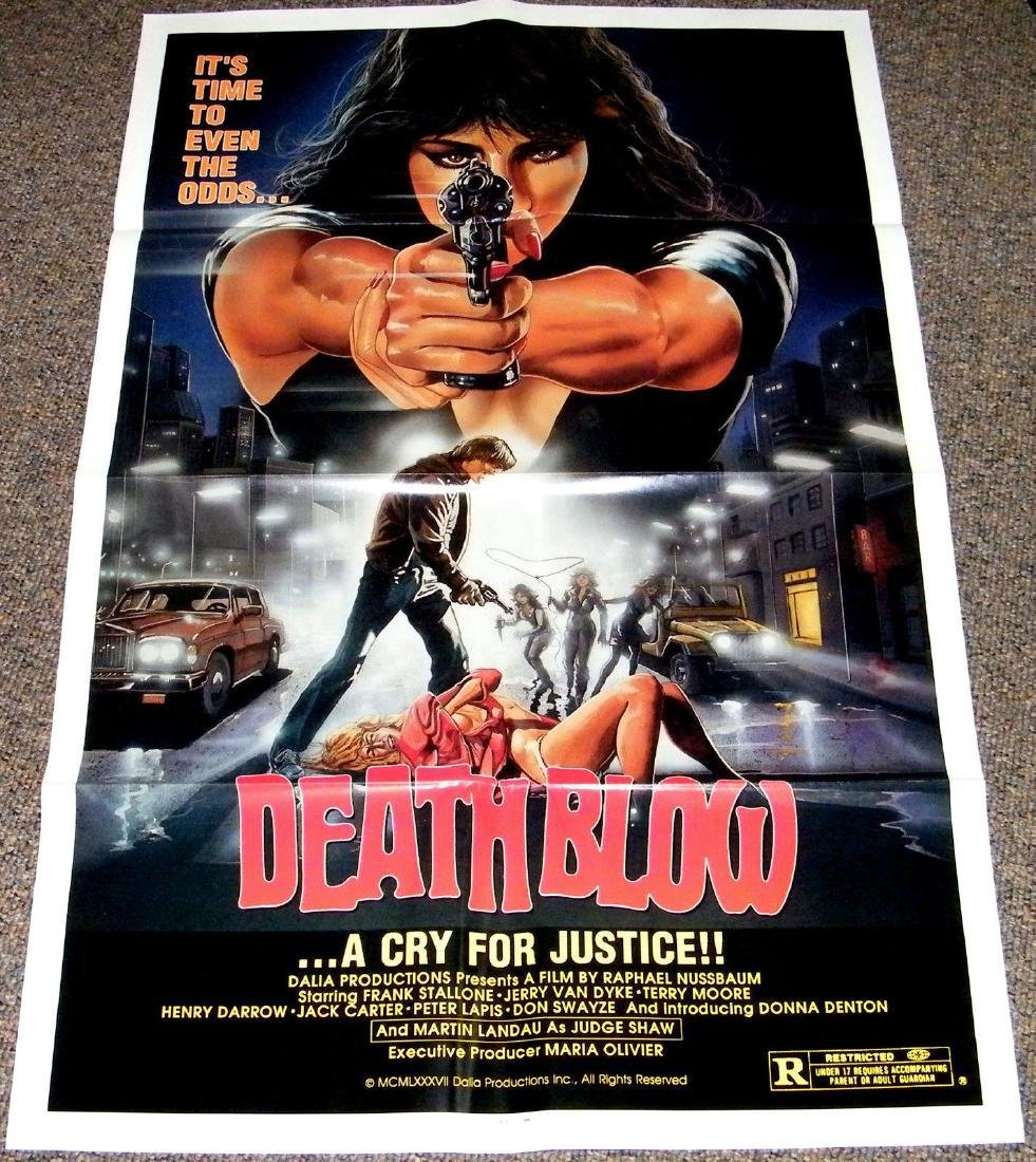 DEATH BLOW 1987 ORIGINAL poster