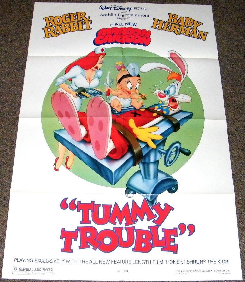 TUMMY TROUBLE 1989 ORIGINAL poster