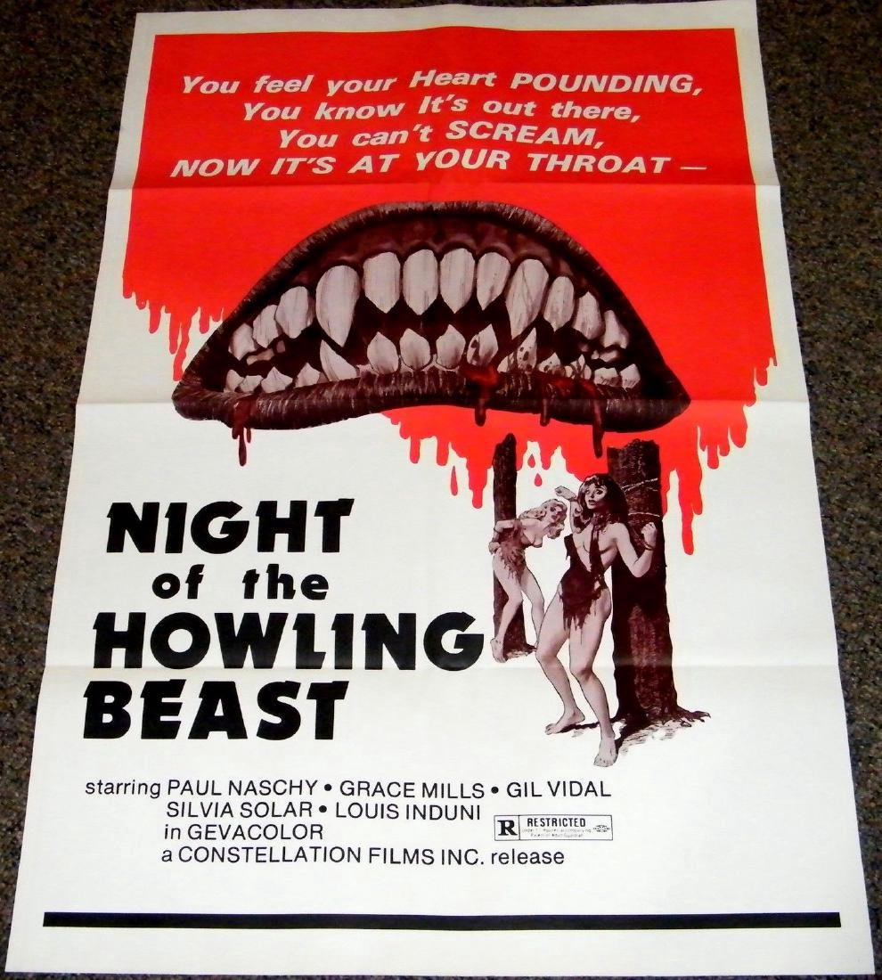 NIGHT OF THE HOWLING BEAST 1975 Original poster
