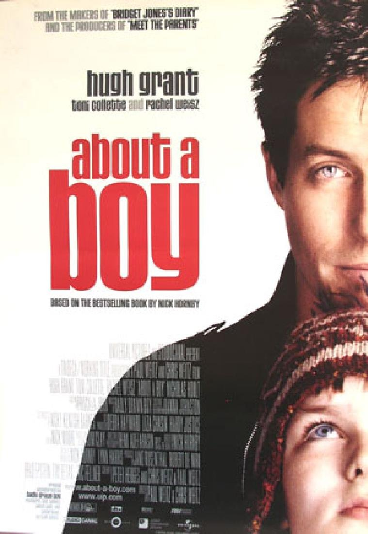 About a Boy 2002 Hugh Grant poster one sheet R, NM DS