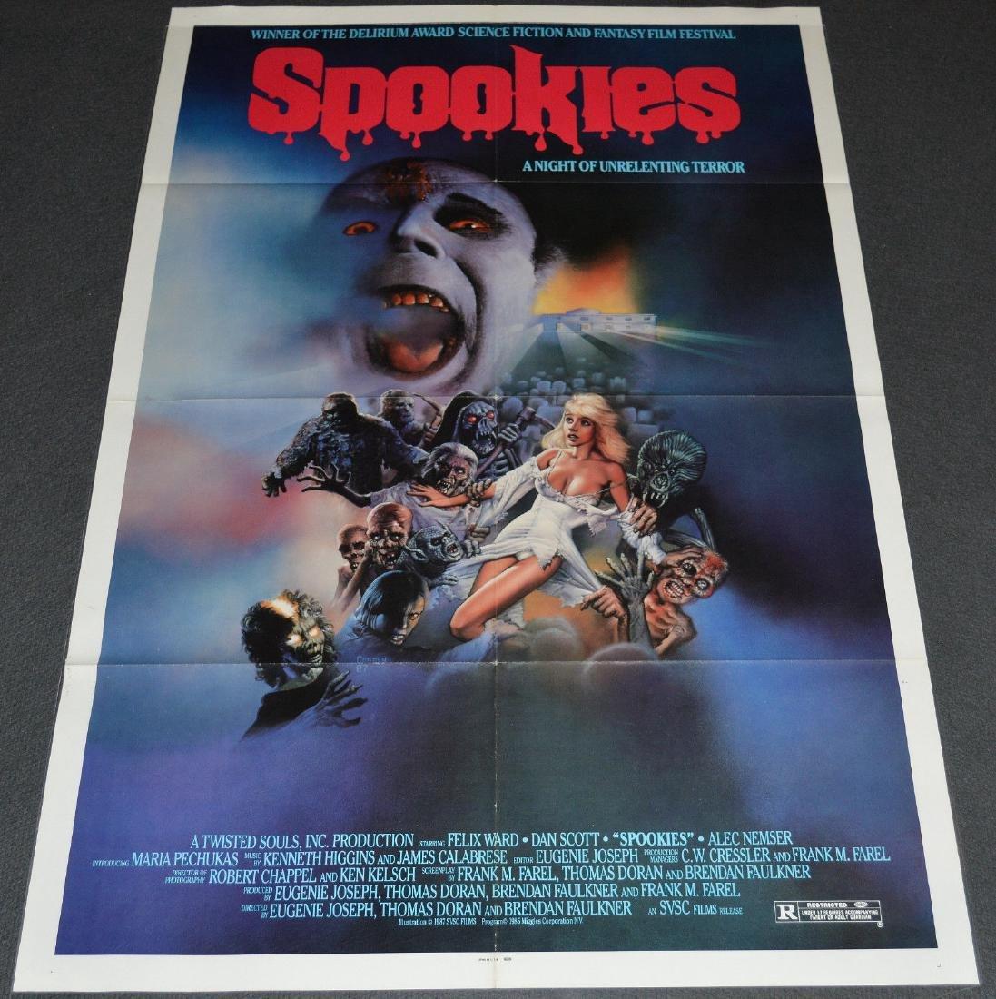 SPOOKIES 1987 Original poster