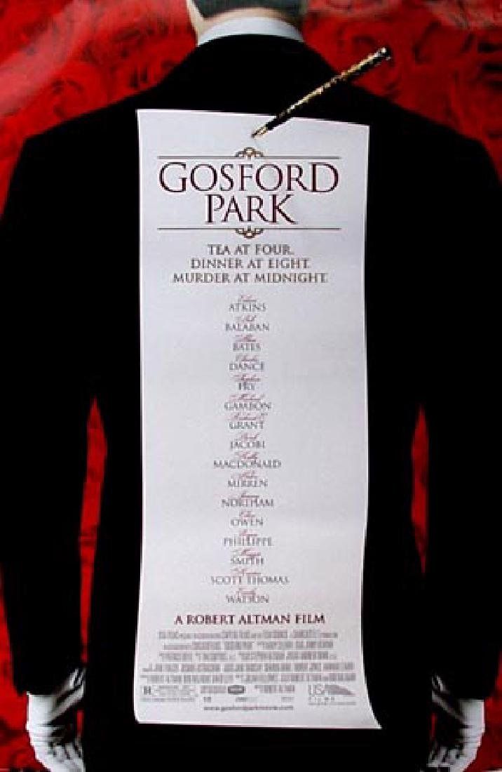 Gosford Park 2002 Maggie Smith poster one-sheet, R, M