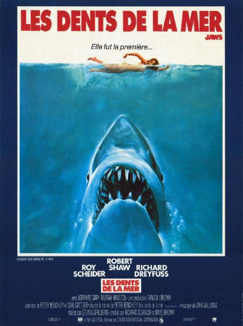 JAWS 1976 SPIELBERG poster
