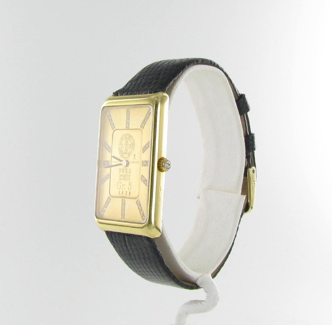 Vintage 18k Corum 5g Ignot Diamond Tank Watch