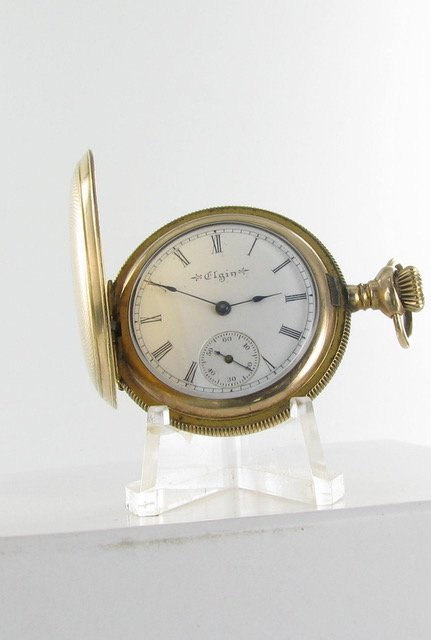Ladies Elgin Gold Filled Case Hunting Style Pocketwatch