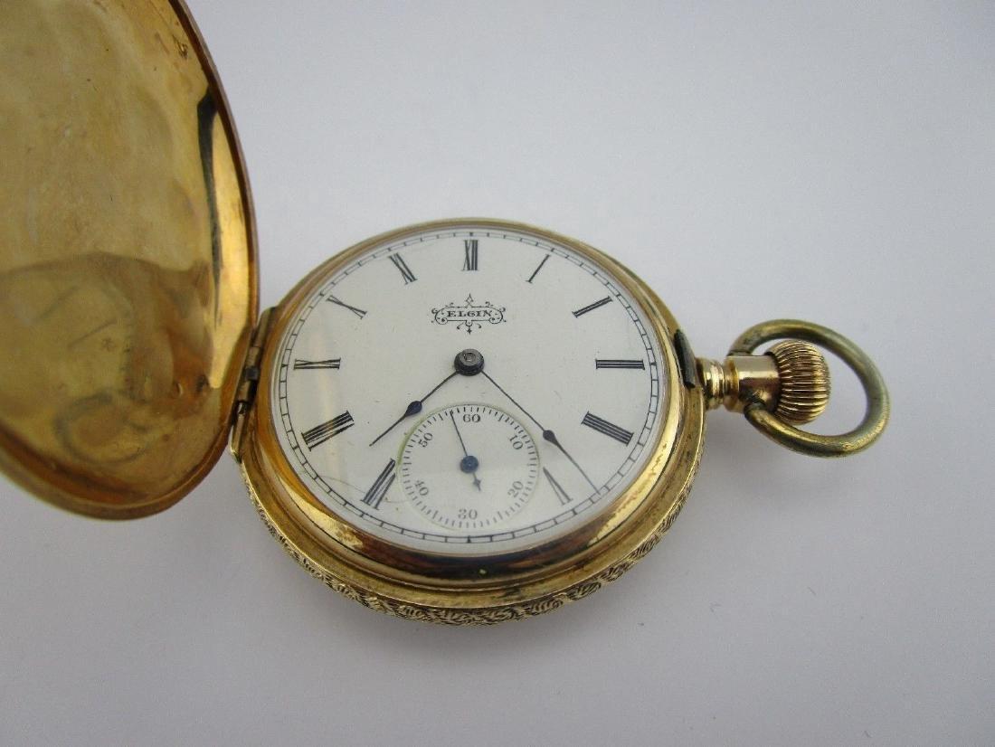 Estate Antique Elgin 14k Gold 4-color Pocket Watch