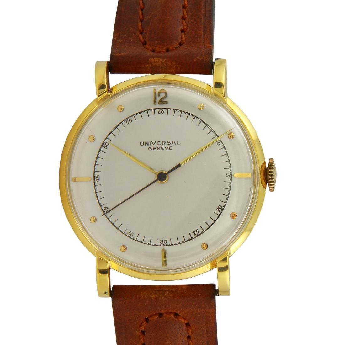 Vintage Universal Geneve Time Capsule 18k Watch