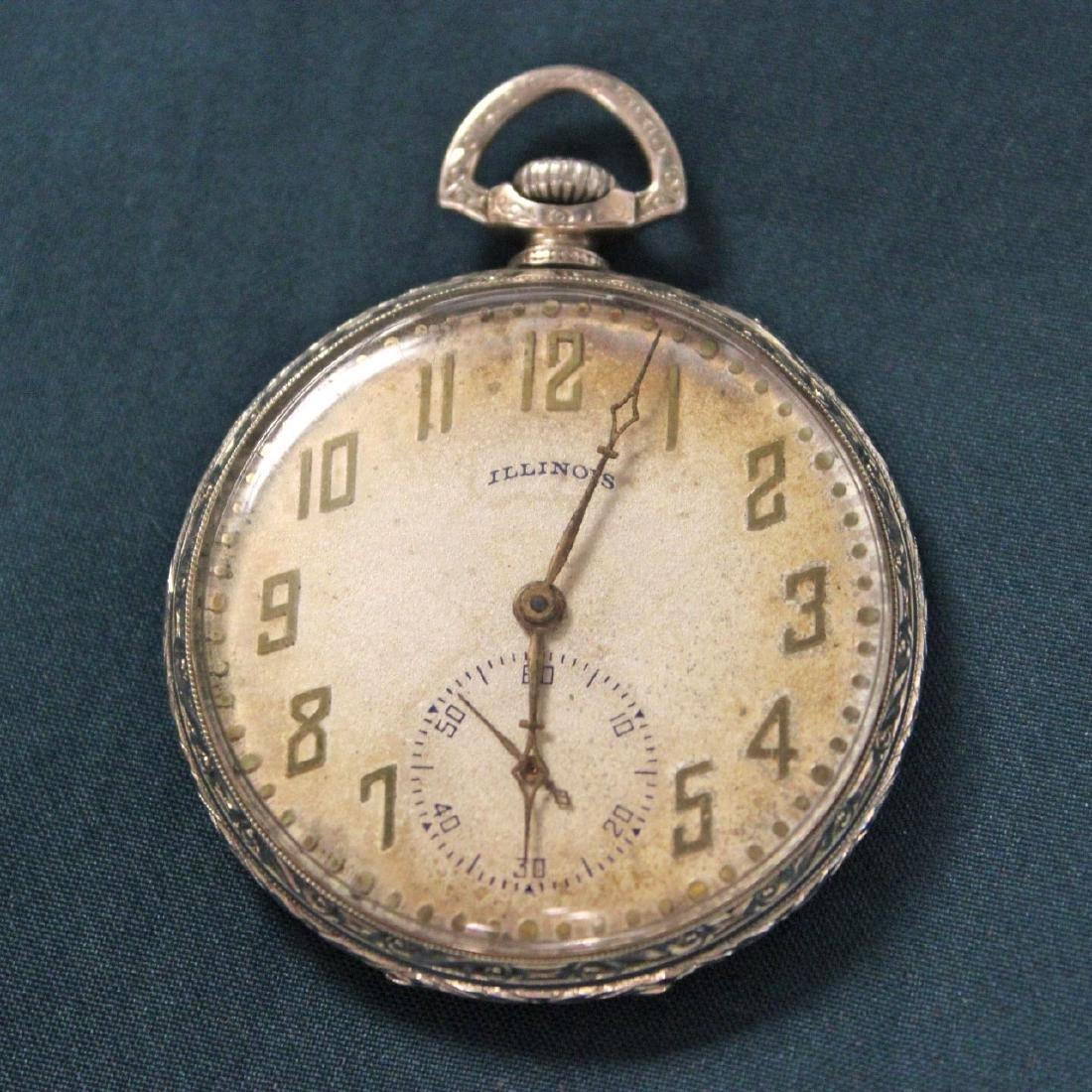 Antique Illinois Pocket Watch 17 Jewel Pocket Watch