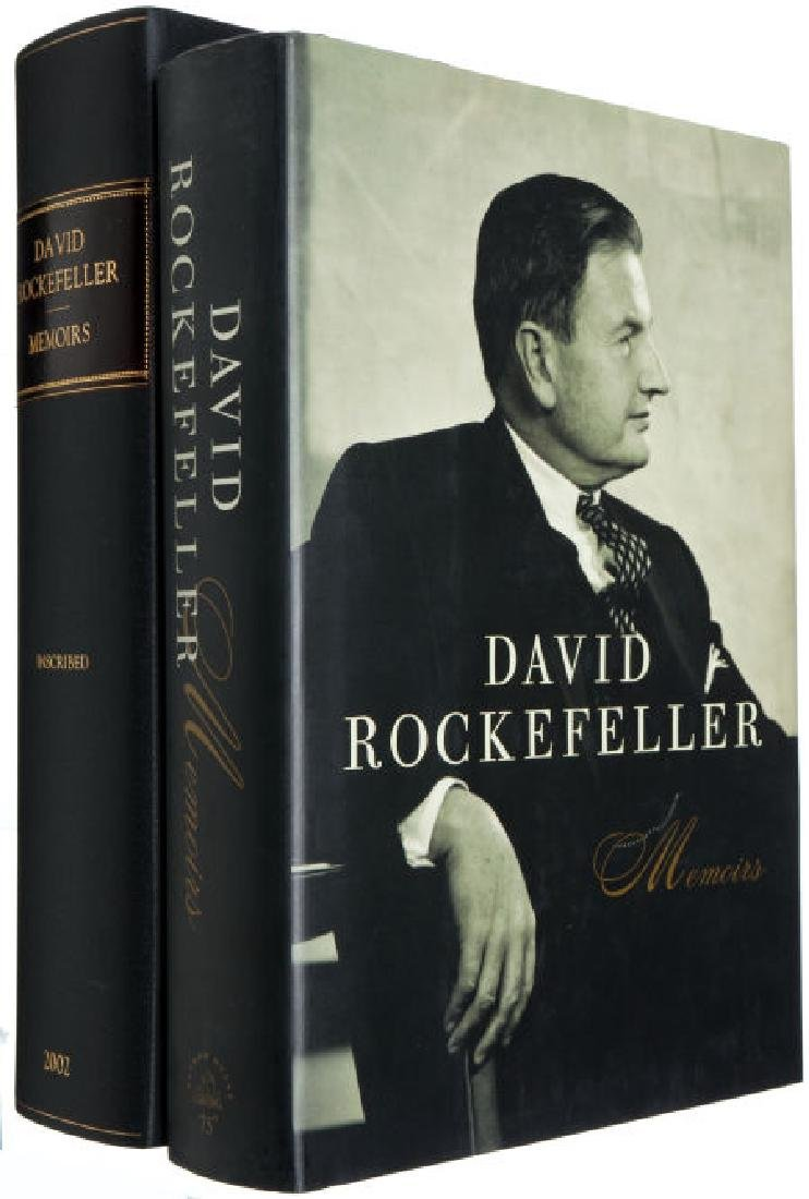 Memoirs by D. Rockefeller Inscribed to A. Schlesinger