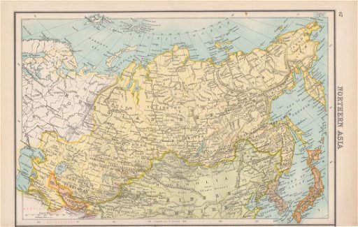 Bartholomew: Map of Northern Asia, Russia, 1898 - Jul 08 ...