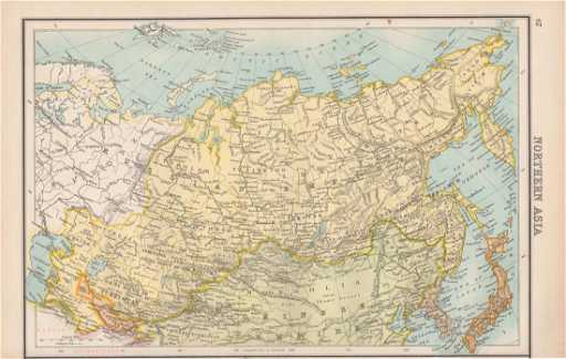 Bartholomew: Map of Northern Asia, Russia, 1898