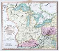 Cary: US Western Territory/Great Lakes Region Map, 1805