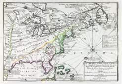 Nicolas de Fer Map of Canada  New France 1702