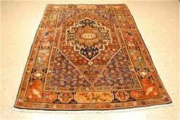"Vintage Persian Bijar Wool Rug 4'7"" x 8'0"""