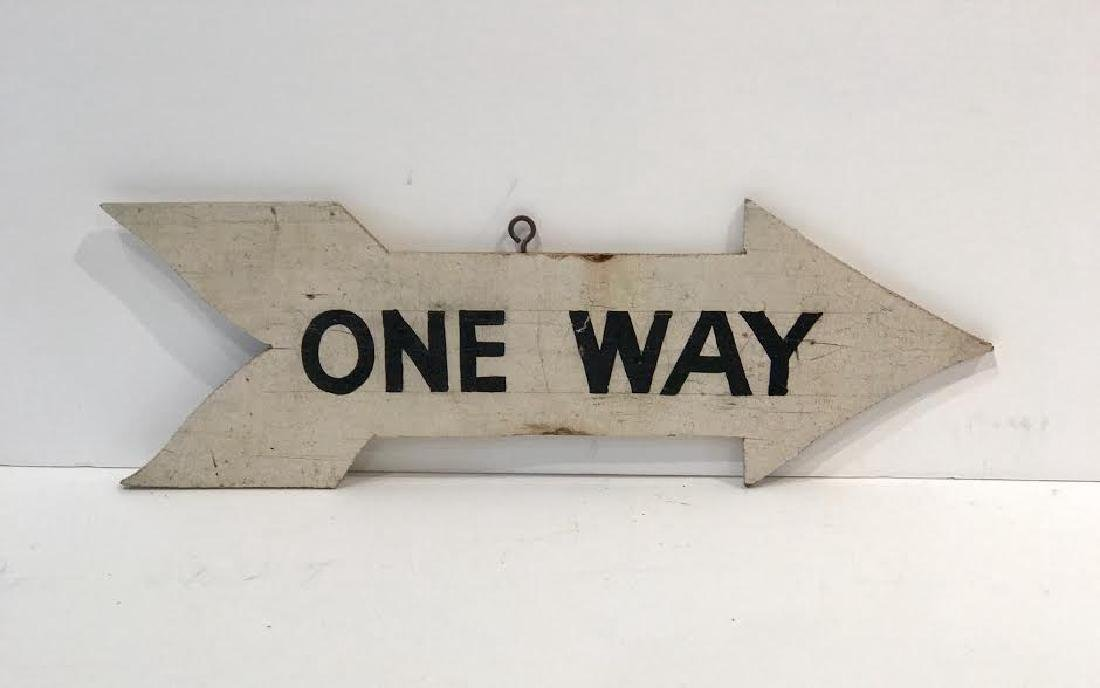 One Way Double-sided 1940 Sign