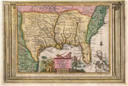 van der Aa Antique Map of Southeast US 1713