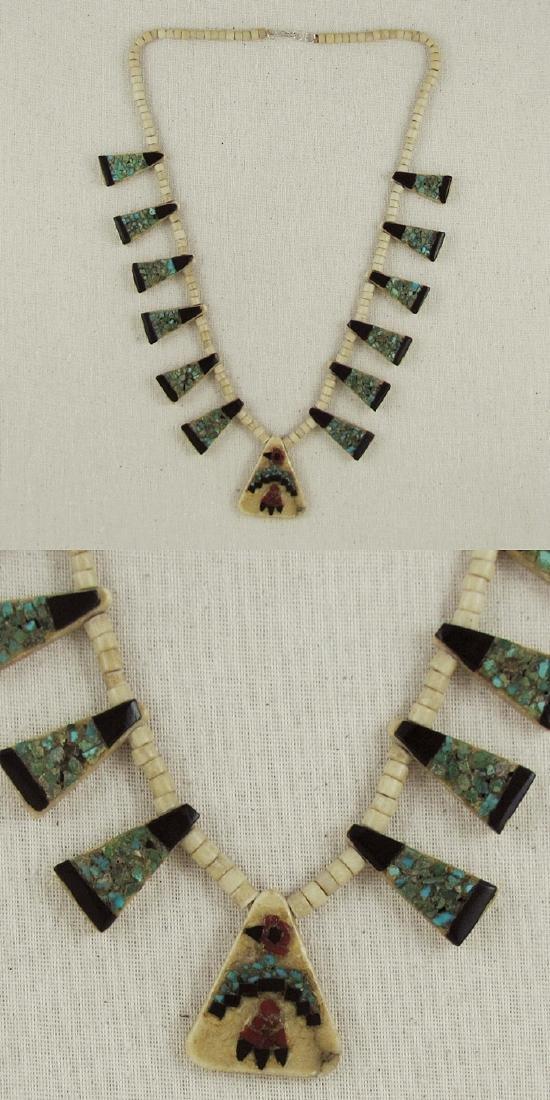 Vintage Santo Domingo Bone & Inlay Necklace