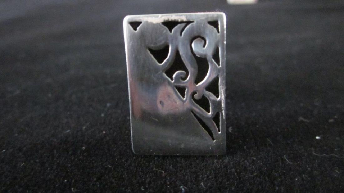Mar Mexico Sterling Silver/niello Shadow Box Cufflinks