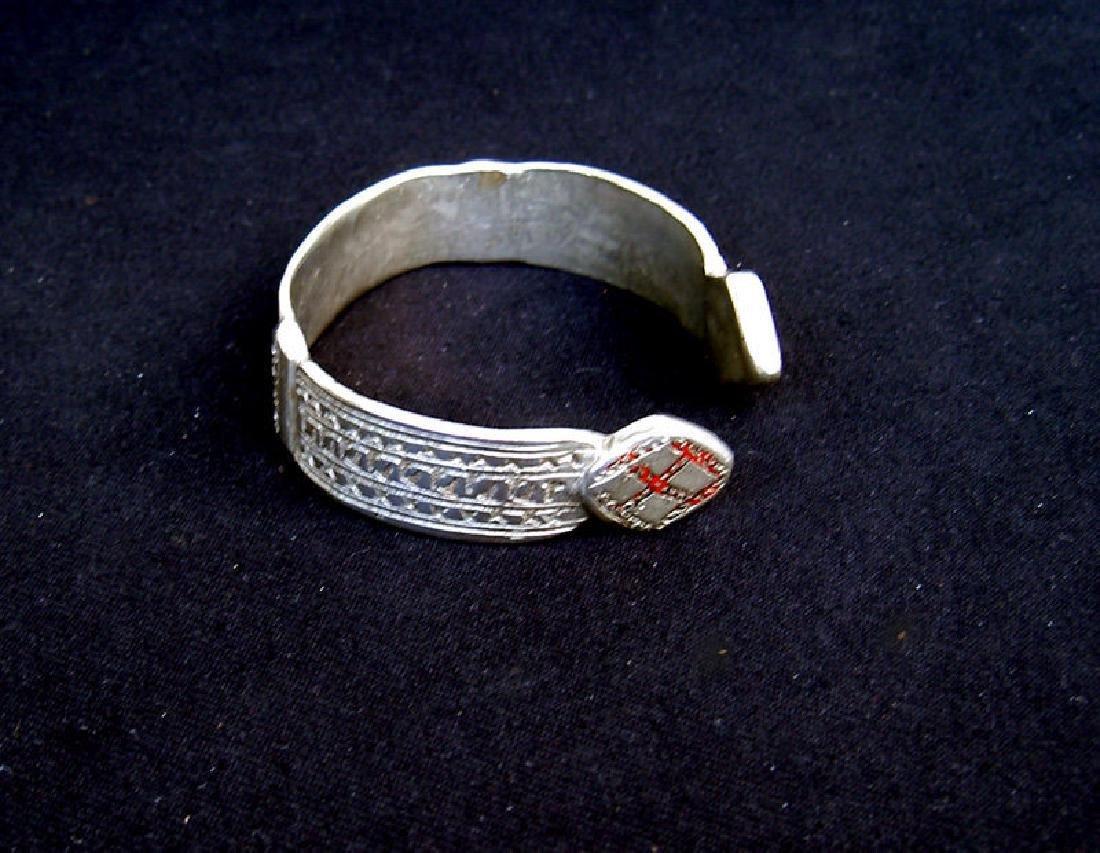 Estate Antique African Ethiopian Silver Bangle