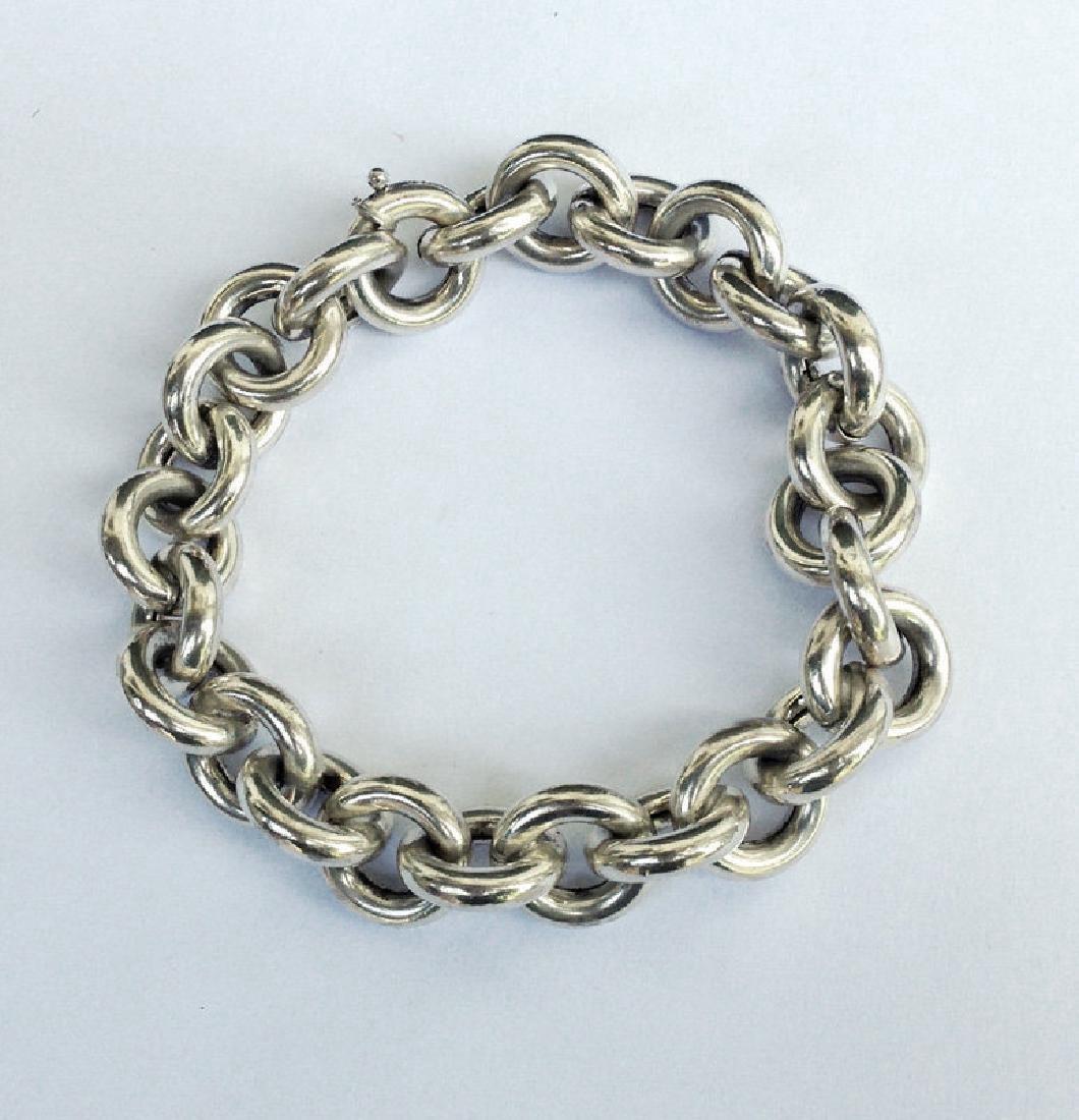 Vintage Silver Bracelet by Uno a Erre, Italy C. 1970