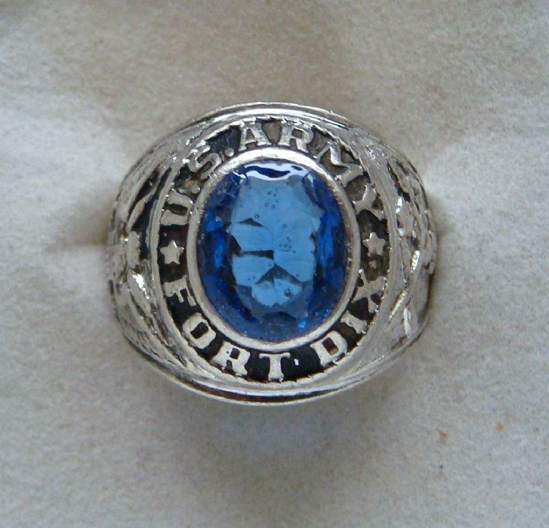 Vintage U.s Army Fort Dix Military Men's Class Ring