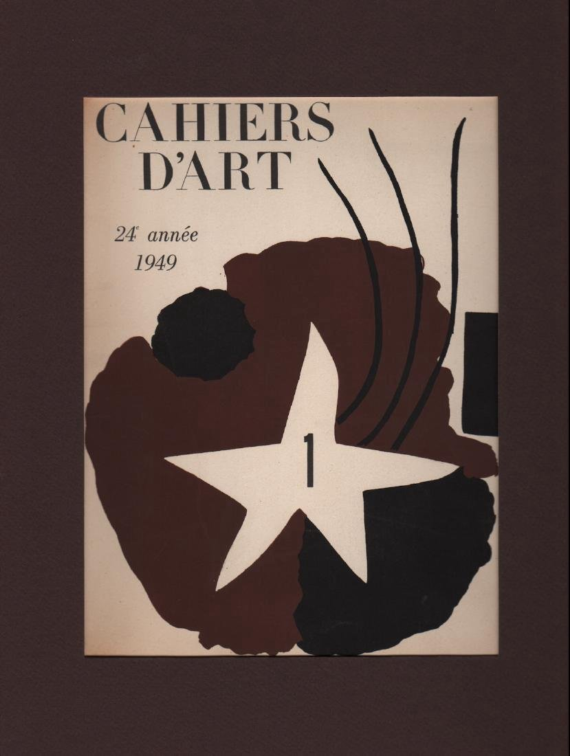 GEORGE BRAQUE - Cahiers D'Art Cover - Color Lithograph
