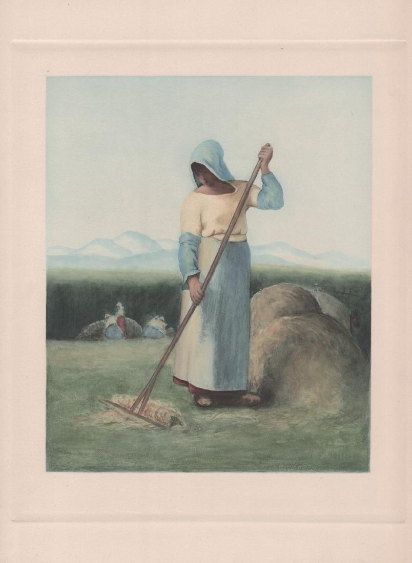 J.F. Millet - Girl Raking Hay