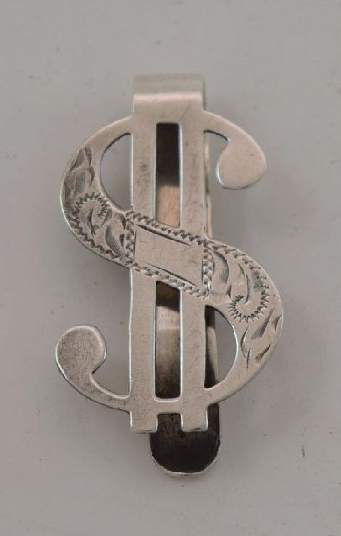 Sterling Silver Dollar Sign Money Clip