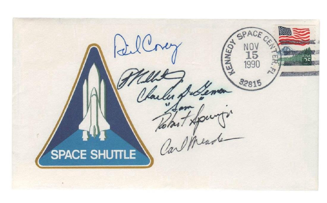 STS 38: Launch Date Crew Signed Cover Inc.