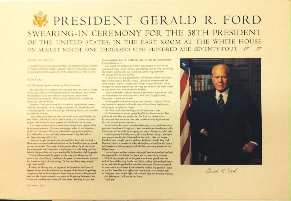 President Gerald R. Ford Swearing-In Ceremony