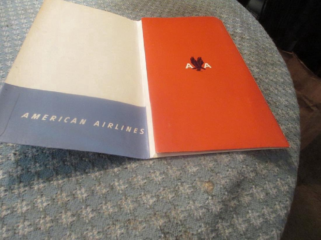 American Airlines 1950's Document Folder W/ Post Cards