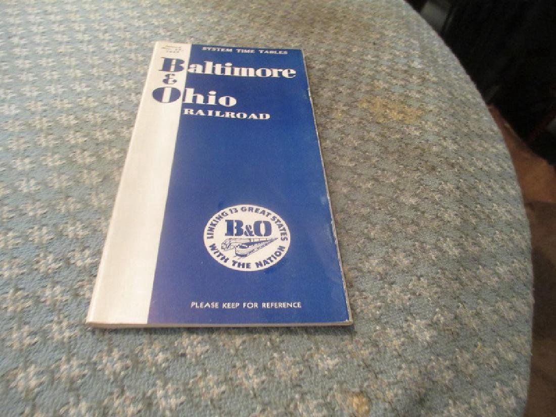 Baltimore & Ohio Railroad 10/1957 System Time Table