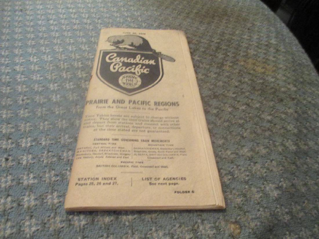 Canadian Pacific Railroad 6/1948 Public Time Table