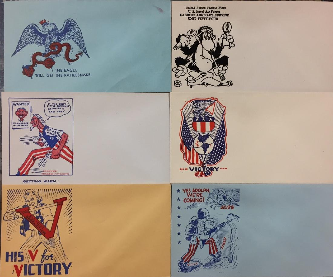 World War II Home Front Patriotic Envelope Collection
