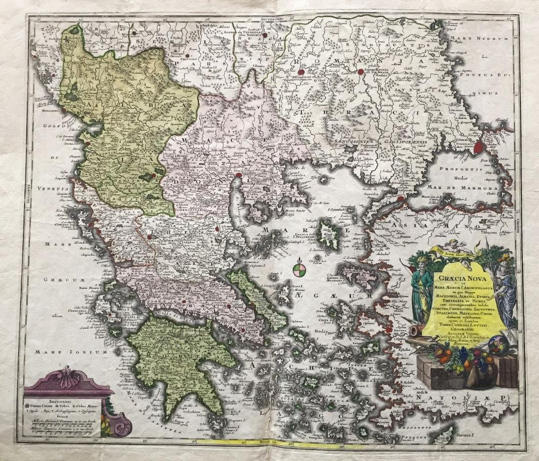 Lotter: Antique Map of Greece & Aegean Islands, 1770
