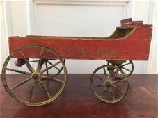 Antique Child's Toy Pull Wagon