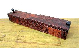 Exceptional Carved Antique Candle Box
