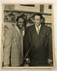 C1950s Signed Duke Ellington Vintage Jazz Photo