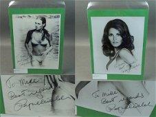 Raquel Welch Signed B&W Sexy Photos W/ Als