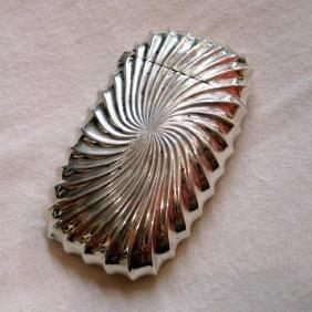 Antique Shiebler Sterling Silver Swirl Gilt Match Safe