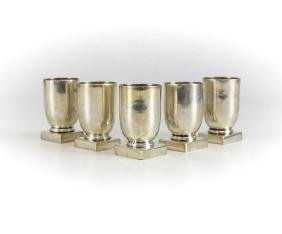 Antique Mexican William Spratling Sterling Silver Cups