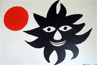 Alexander Calder: Red Sun Lithograph