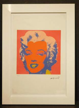 Andy Warhol: Marilyn with Orange Face Chromolithograph