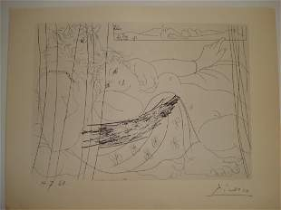 Pablo Picasso: Suite Vollard Lithograph - SIGNED