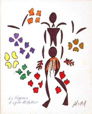 Henri Matisse: La Negresse Lithograph