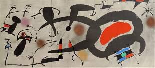 Joan Miro: Abstraction Lithograph